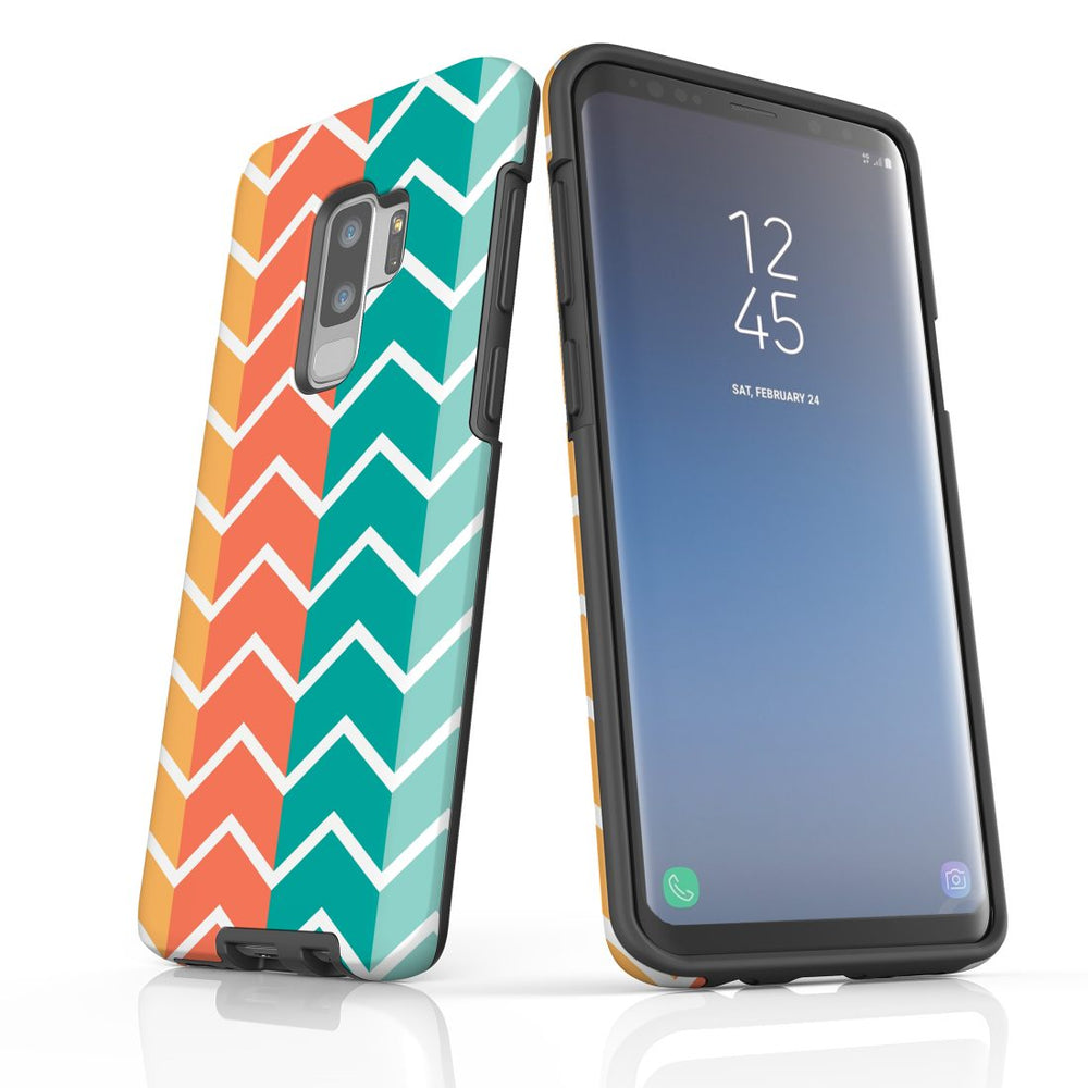 For Samsung Galaxy S9 Plus Protective Case, Zigzag Colorful Pattern