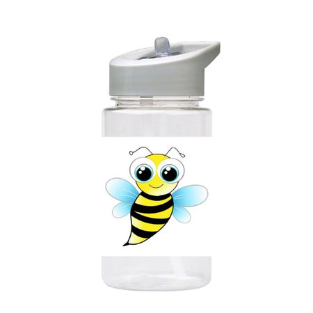 Water Bottle 500ml with Straw and Handle Drink Bottle, Cute Bee