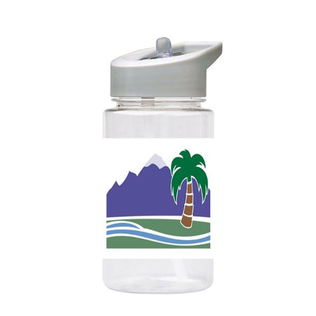 Water Bottle 500ml with Straw and Handle Drink Bottle, Paradise