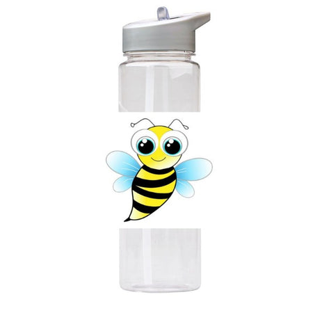 Water Bottle 750ml with Straw and Handle Drink Bottle, Cute Bee