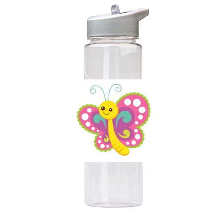 Water Bottle 750ml with Straw and Handle Drink Bottle, Cute Butterfly