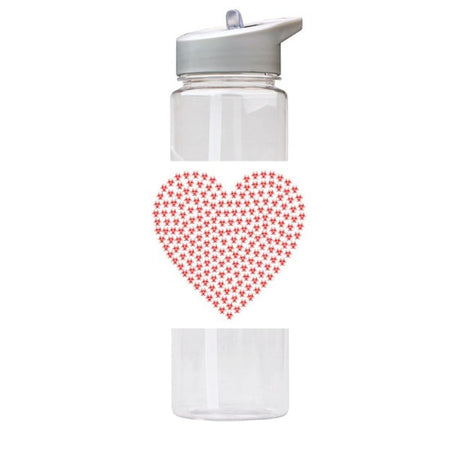 Water Bottle 750ml with Straw and Handle Drink Bottle, Heart