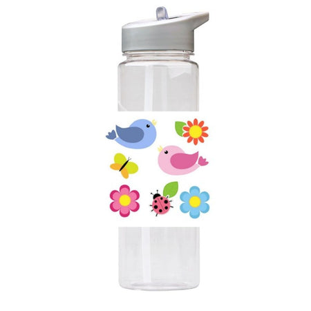 Water Bottle 750ml with Straw and Handle Drink Bottle, Joyfull Nature