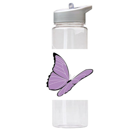 Water Bottle 750ml with Straw and Handle Drink Bottle, Butterfly