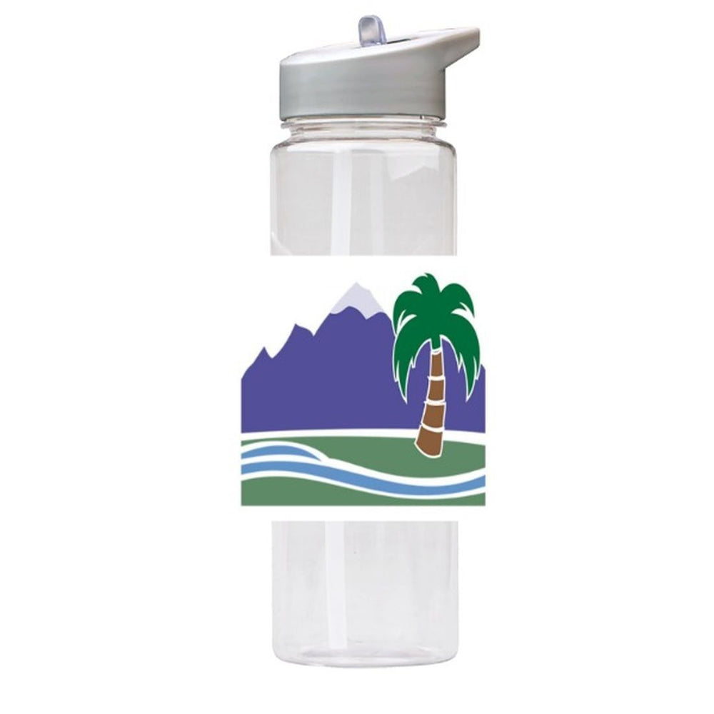 Water Bottle 750ml with Straw and Handle Drink Bottle, Paradise