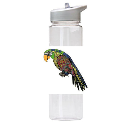 Water Bottle 750ml with Straw and Handle Drink Bottle, Parrot