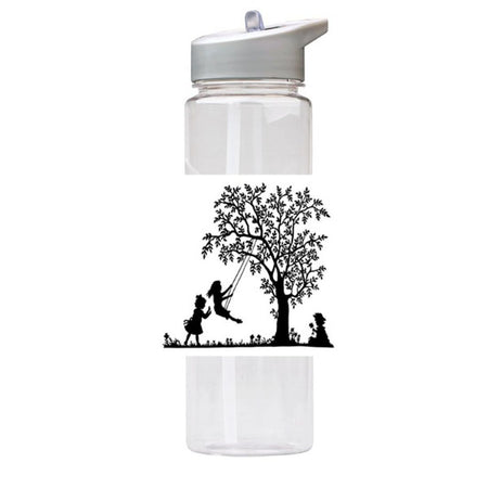 Water Bottle 750ml with Straw and Handle Drink Bottle, Playing