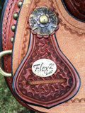 14.5 inch Circle Y Lisa Lockhart Contender Flex2 Barrel Saddle