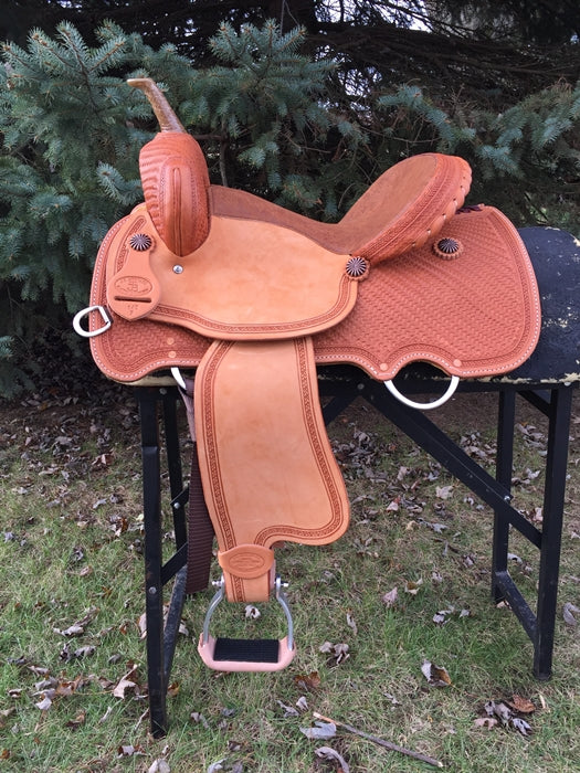 14.5 inch JB Heritage Saddle with copper accents