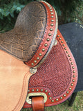 14 inch Circle Y Lisa Lockhart Contender Flex2 Barrel Saddle