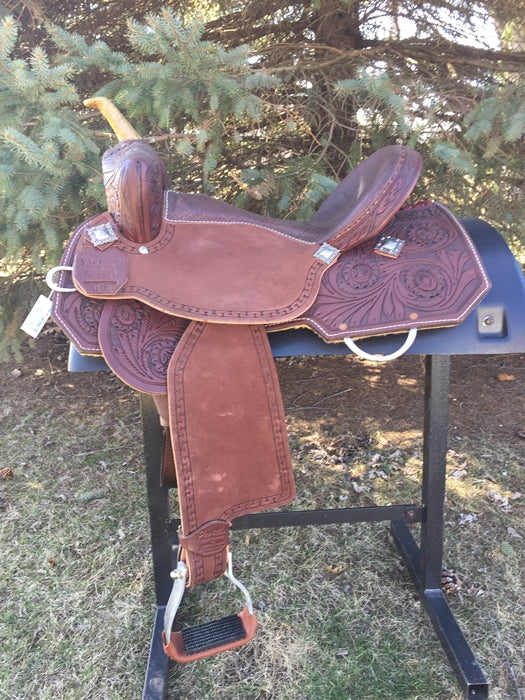 16 inch new Pro Rider Saddle with faux elephant seat