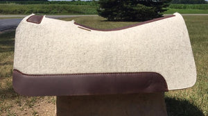 5 Star Saddle Pad natural 7/8 inch brown wear leathers