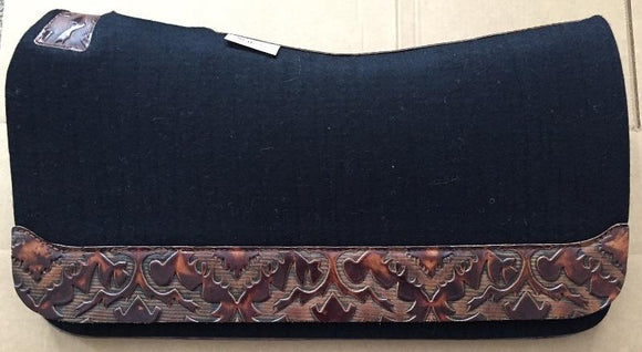 5 Star Saddle Pad black 7/8 inch chocolate laredo wear leathers
