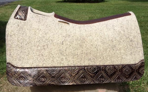 5 Star Saddle Pad natural 7/8 inch copper aztec wear leathers