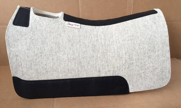 5 Star Saddle Pad natural 7/8 inch black wear leathers