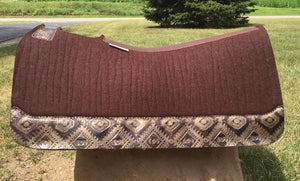 5 Star Saddle Pad dark chocolate 7/8 inch copper aztec wear leathers