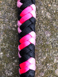 Braided Nylon & Leather Over N Under Whip Close Up