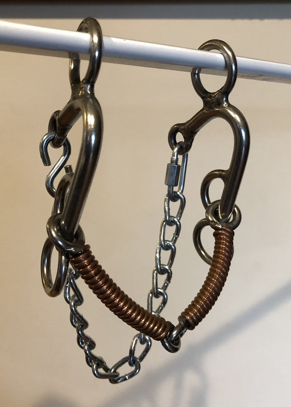 L&W CB Bit Locked Copper Wrapped Snaffle