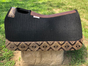 5 Star Saddle Pad Black 7/8 inch Copper Aztec 30x28