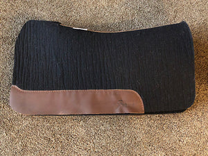 5 Star Saddle Pad Black 3/4 inch Dark Brown, Wither cut out 30x28