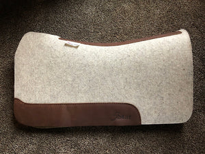 5 Star Saddle Pad Natural 3/4 inch Dark Brown, Wither cut out 30x28