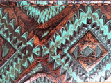 5 Star Saddle Pad black 7/8 inch turquoise copper aztec wear leathers