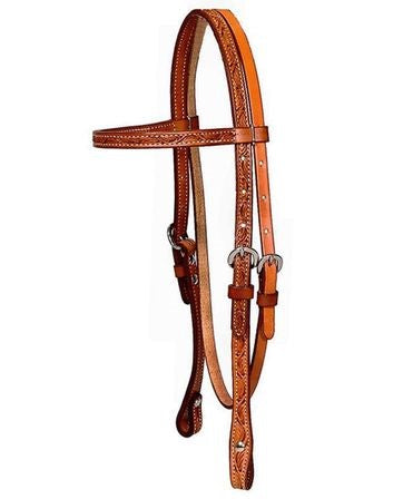 Hot oil Billy Cook Floral Browband Headstall 11-951