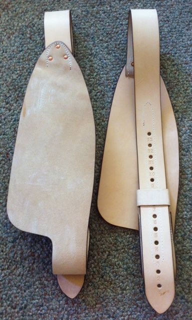 LEATHER REPLACEMENT HORSE SADDLE TACK ROUGHOUT GENUINE LEATHER ROUGH OUT FENDERS
