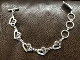 Taylor Brands Double Heart Toggle Bracelet TBBC2621