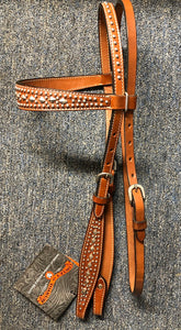 Circle Y Silver Dots and Diamonds Browband Headstall X0102-1004