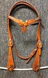 Browband Headstall with Futurity Knot and Silver Spots