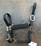 Fabtron Adjustable Nylon Horse Halter Black