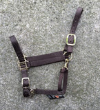 Fabtron Adjustable Nylon Horse Halter Brown