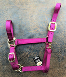 Fabtron Adjustable Nylon Horse Halter Maroon