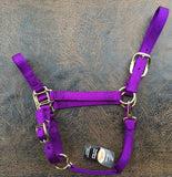 Fabtron Adjustable Nylon Horse Halter Purple