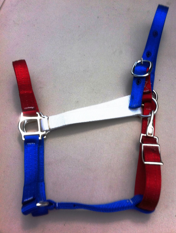 Horse Halter All American Red White Blue