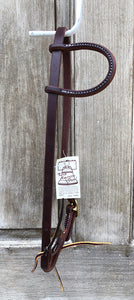 Beagley Single Ear Bridle Leather Hot Oil Headstall with Brass Buckle