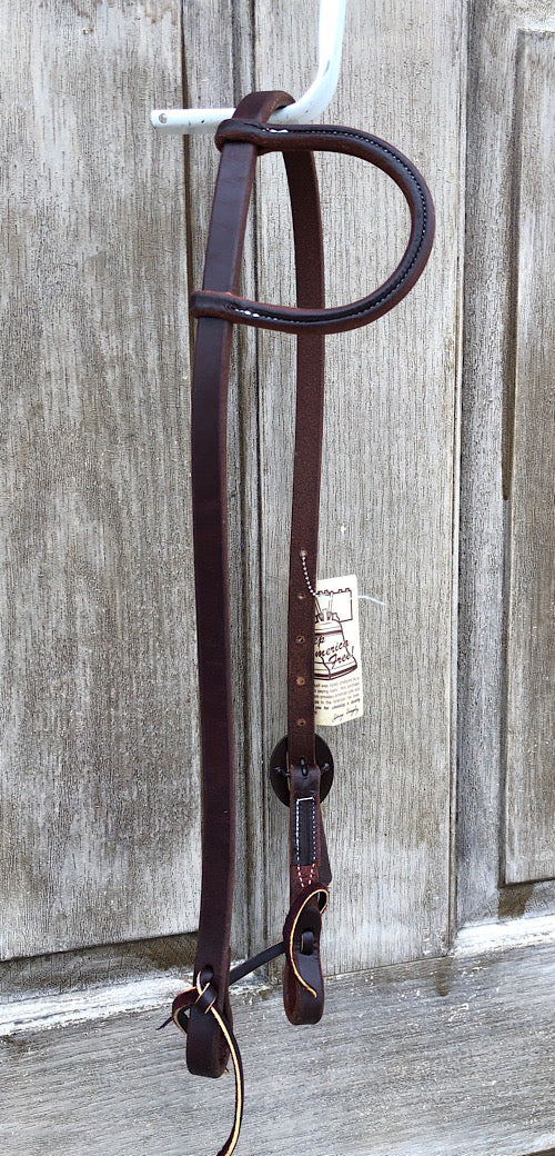 Beagley Single Ear Hot Oil Headstall with Antiqued Buckle