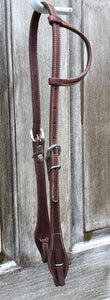 Beagley Quick Change Single Ear Bridle Leather Headstall