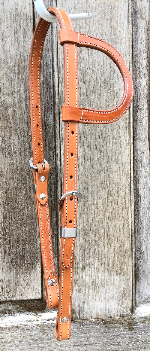 Kent Logan Light Oil Double and Stitched Single Ear Headstall