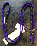 Martha Josey Super Knot Barrel Racing Rein Purple Black Pony Size