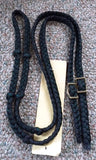 Martha Josey Super Knot Barrel Racing Rein Black/Hunter Green