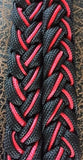 Martha Josey Super Knot Barrel Racing Rein Black/Red