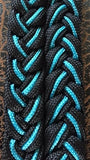 Martha Josey Super Knot Barrel Racing Rein Black/Turquoise