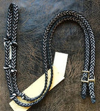 Martha Josey Super Knot Barrel Racing Rein Black/White