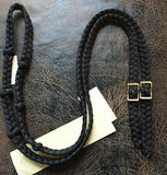Martha Josey Super Knot Barrel Racing Rein Black