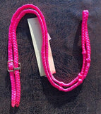 Martha Josey Super Knot Barrel Racing Rein Hot Pink pony size