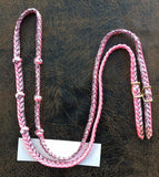 Martha Josey Super Knot Barrel Rein Pink/White/Pink Verigate