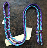 Martha Josey Super Knot Barrel Racing Rein Purple/Pink/Turquoise
