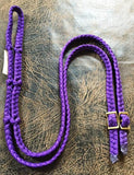 Martha Josey Super Knot Barrel Racing Rein Purple
